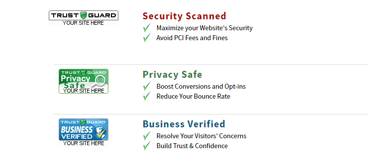 Screenshot of Trust Guard solutions