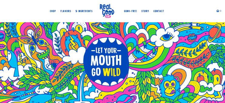 Screenshot of Real Good Gum website