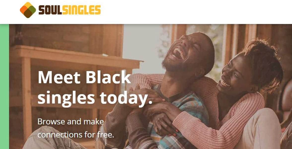 Screenshot of SoulSingles' homepage