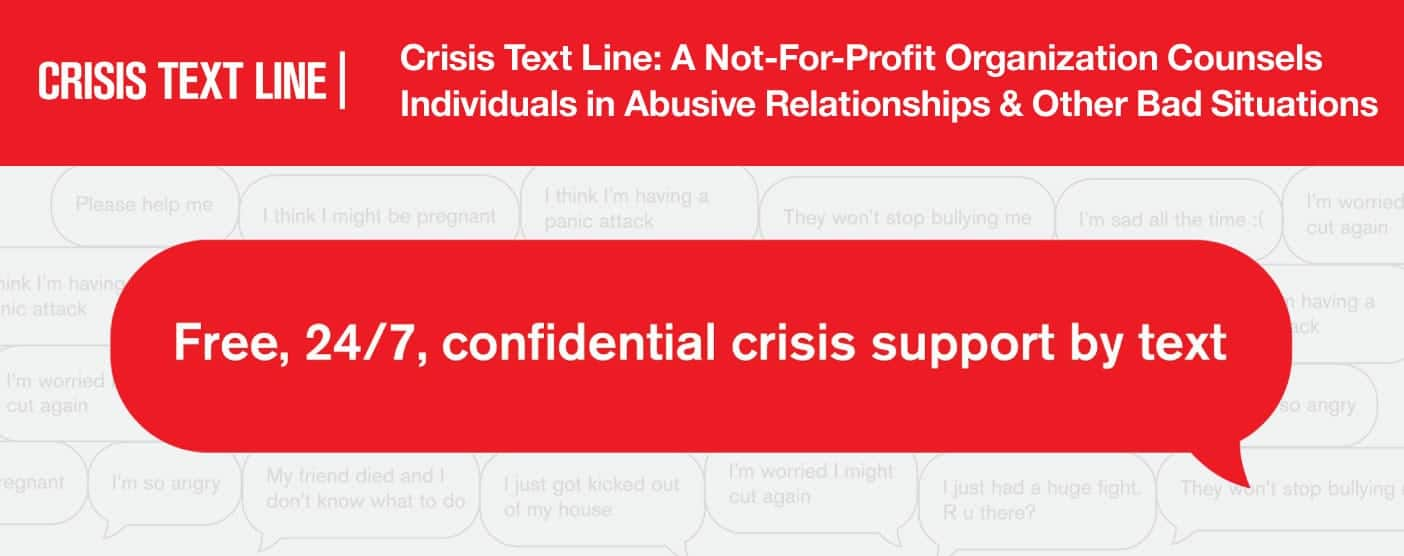 Crisis Text Line Counsels Those in Abusive Relationships