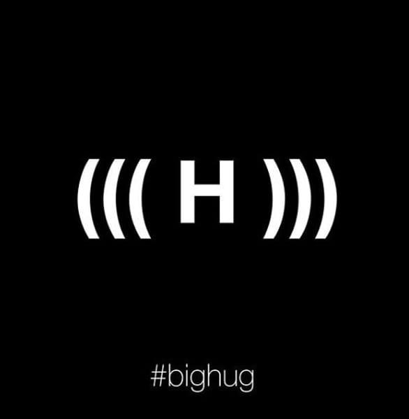 The abbreviation for a big hug
