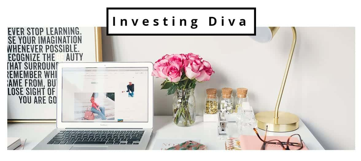 Screenshot of Investing Diva homepage