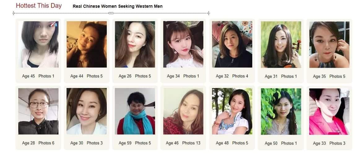 Screenshot of ChinaLoveMatch profile page
