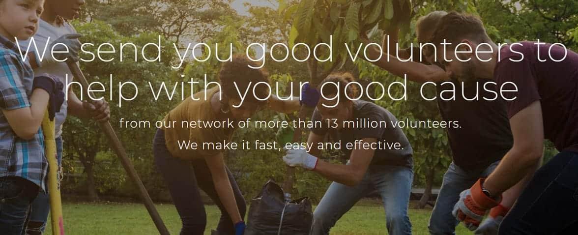 Screenshot of VolunteerMatch.org noprofit page