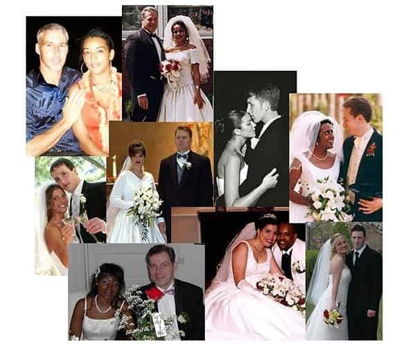 Photo collage of LatinEuro couples