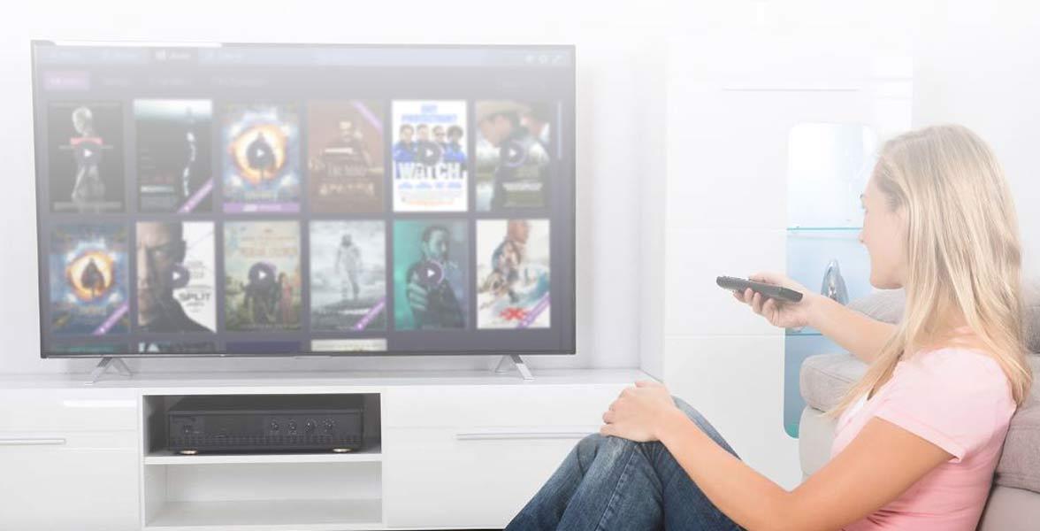 Photo of a woman browsing Stremio