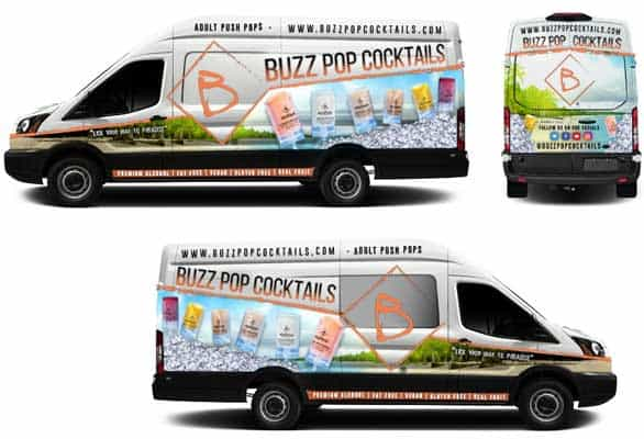 Photos of the Buzz Pop Cocktails truck