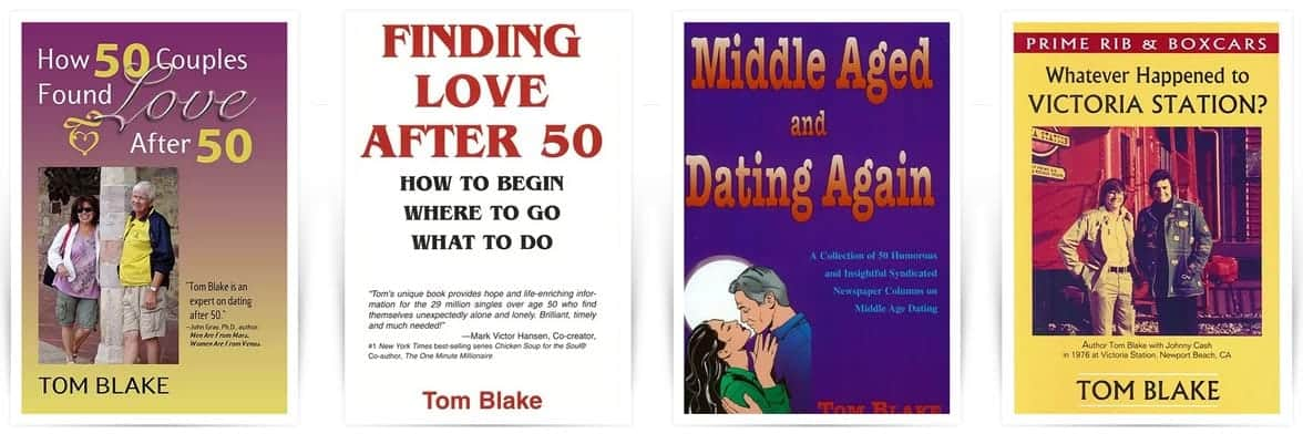 Screenshot of Tom Blake's books