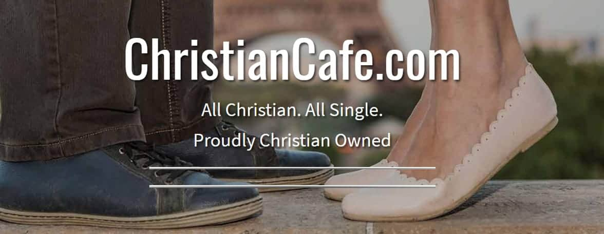 Screenshot of the ChristianCafe.com homepage