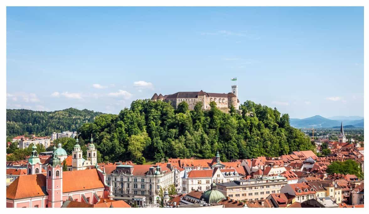Screenshot of Ljubljana Castle from Ljubljana Tourism website
