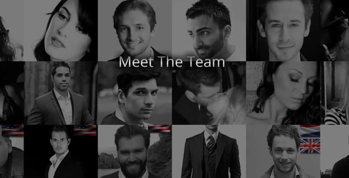 Photo of Kezia's team of trainers
