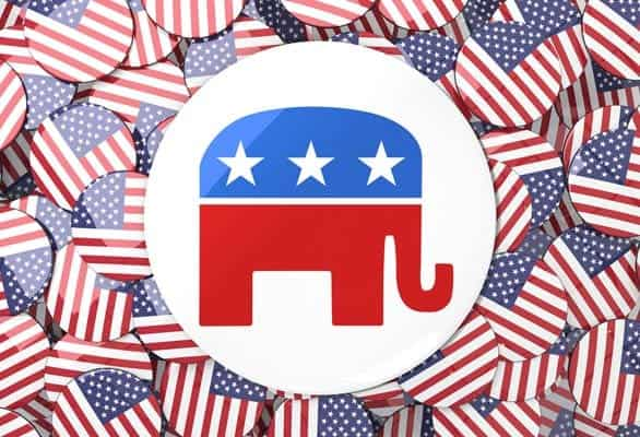 Photo of the Republican elephant