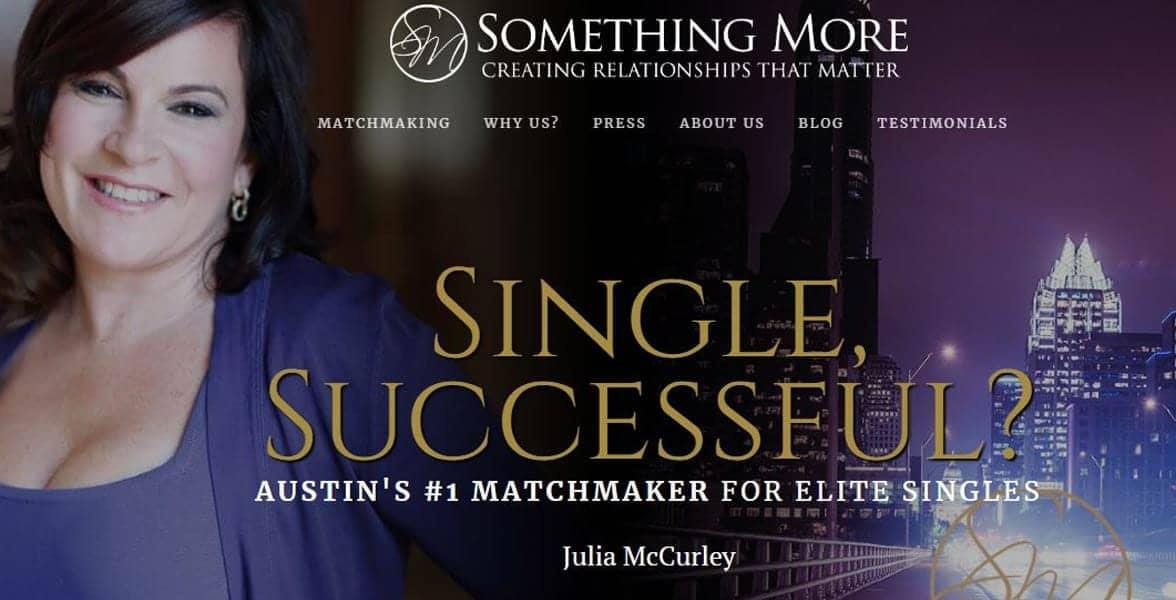Screenshot of Something More's website