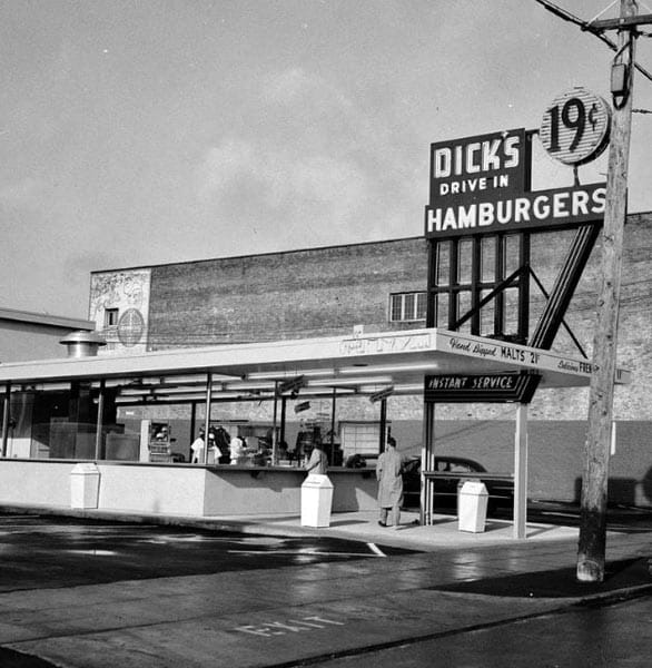 Photo of the original Dick's Drive In
