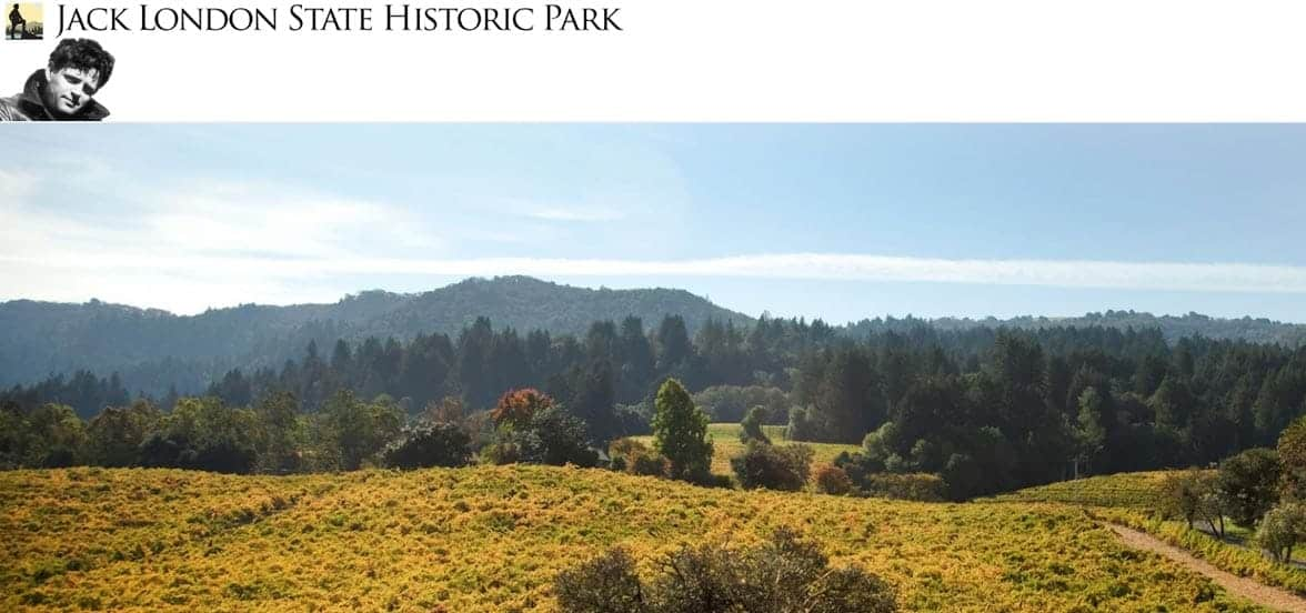 Screenshot of the Jack London State Historic Park website