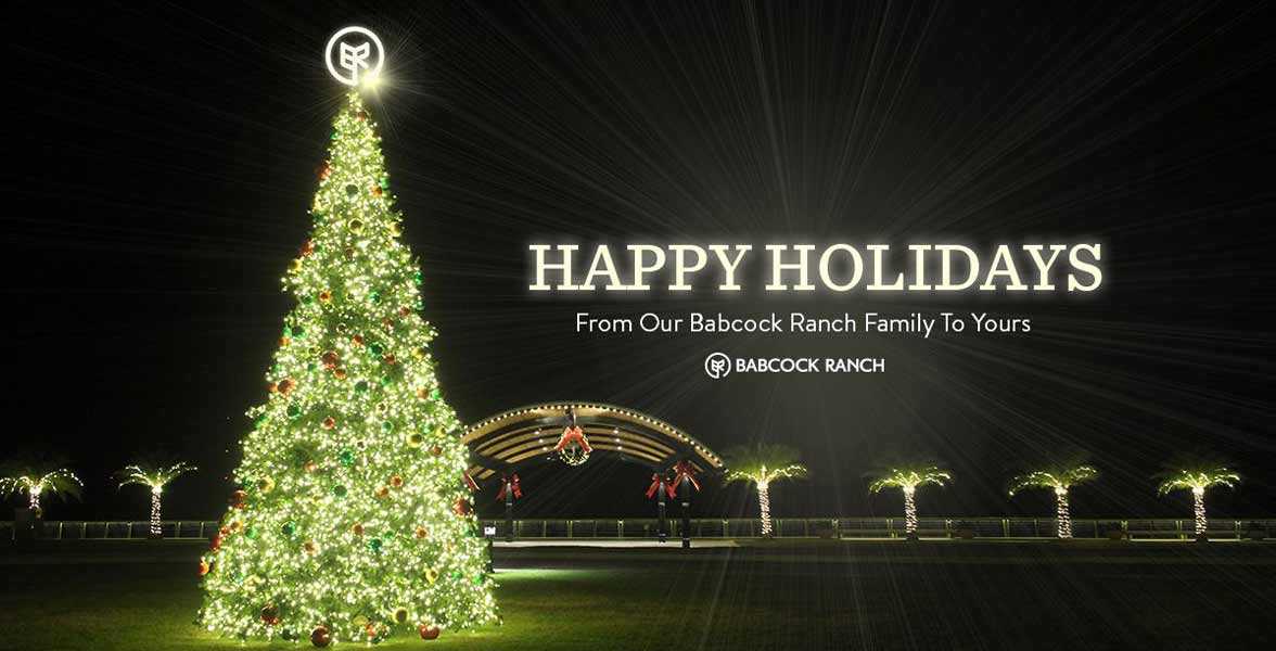 Photo of Babcock Ranch's holiday tree