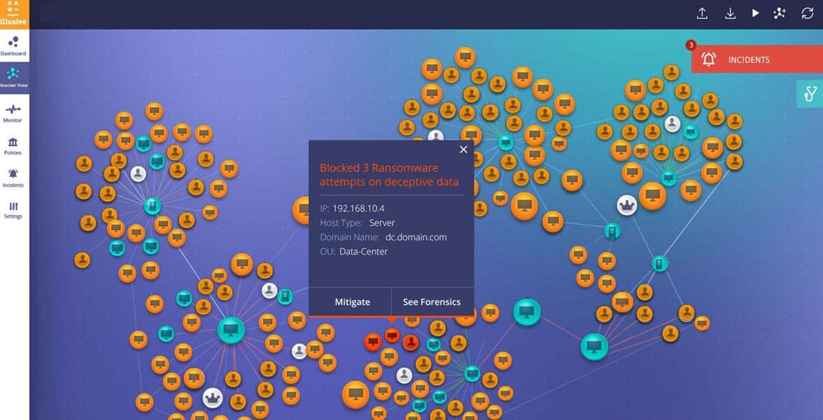 Screenshot of the Illusive Management Platform