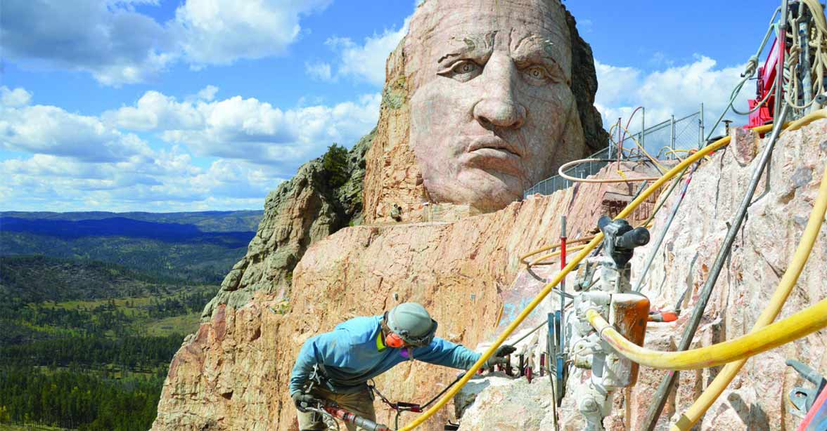 Photo of the Crazy Horse Memorial