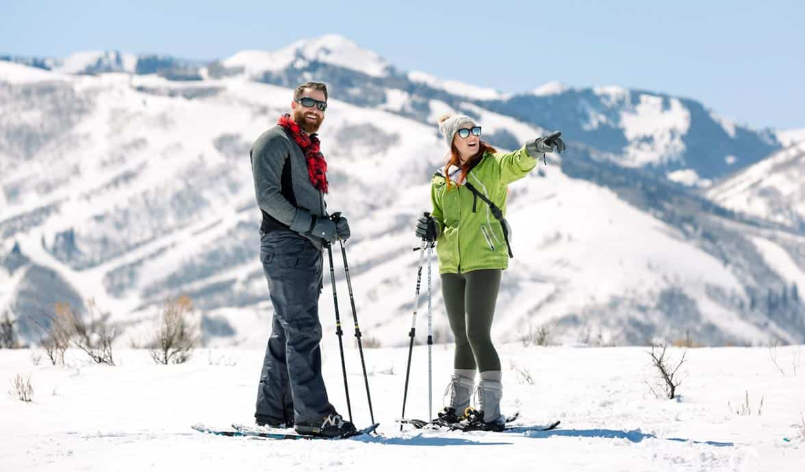 Photo of a couple skiing in Park City
