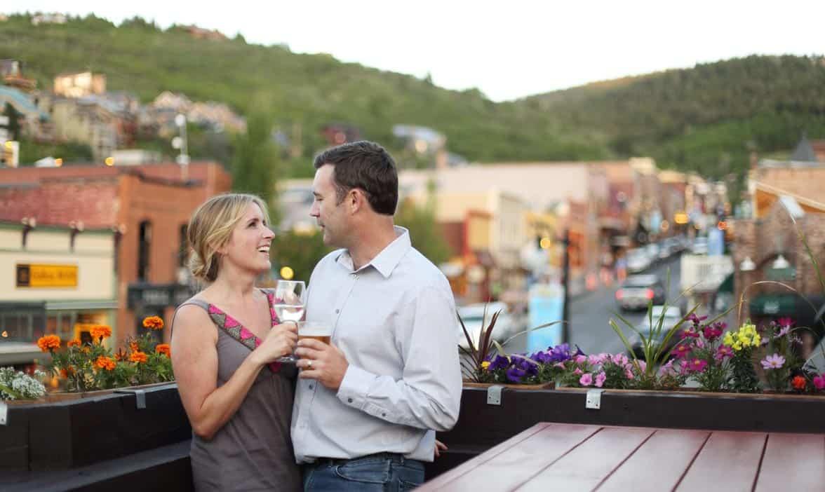 Photo of couples overlooking Park City, Utah