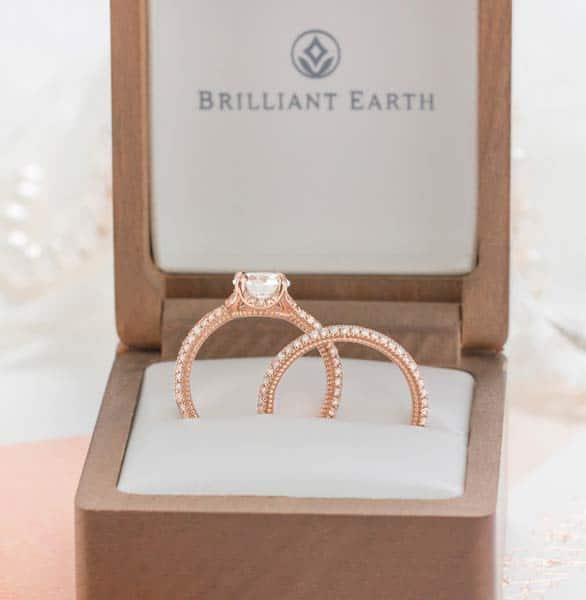 Photo of Brilliant Earth wedding rings