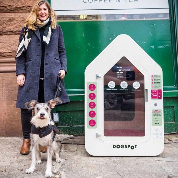 Photo of Chelsea Brownridge and her dog, Winston