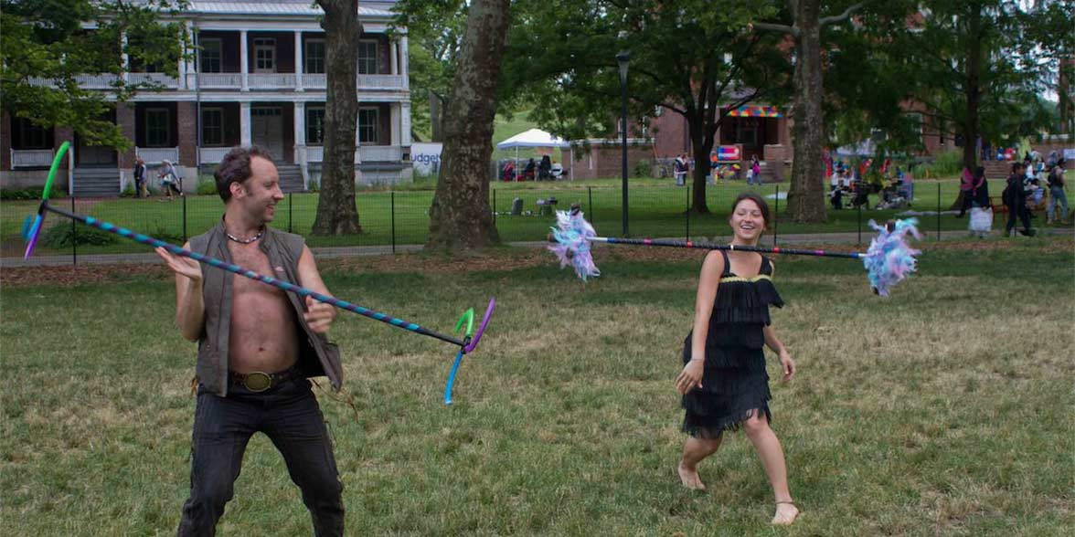 Photo of two people at FIGMENT