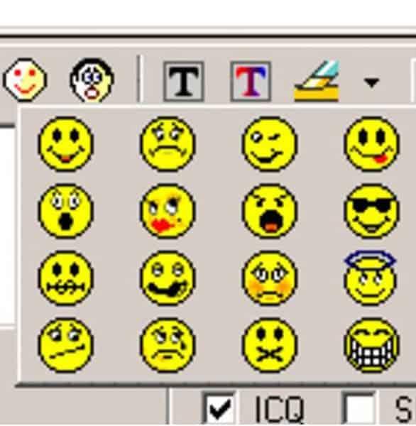 Photo of AIM emoticons