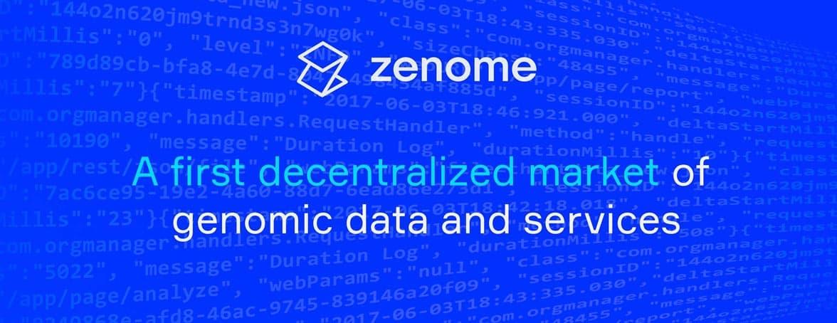 Screenshot of Zenome banner