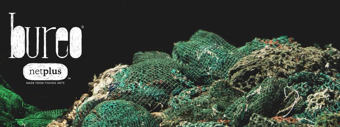 Bureo logo banner with fishing nets
