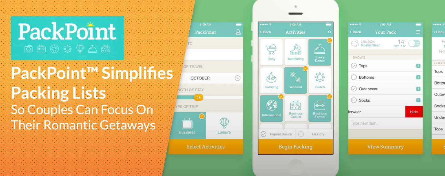 PackPoint™ Simplifies Packing Lists for Traveling Couples