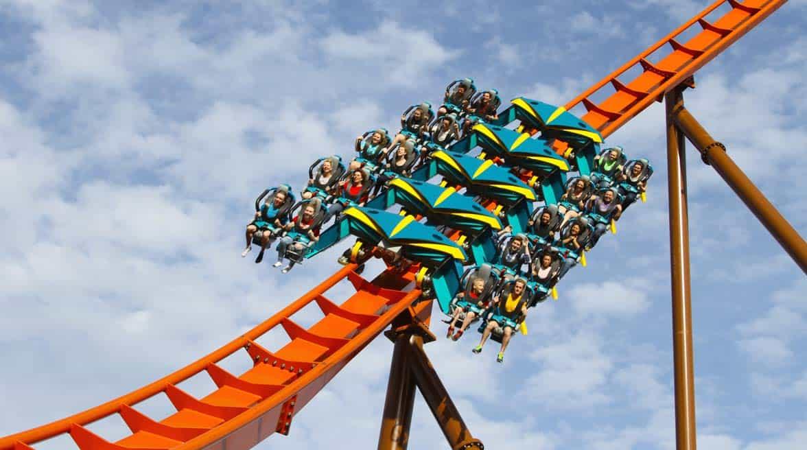 Photo of Thunderbird roller coaster