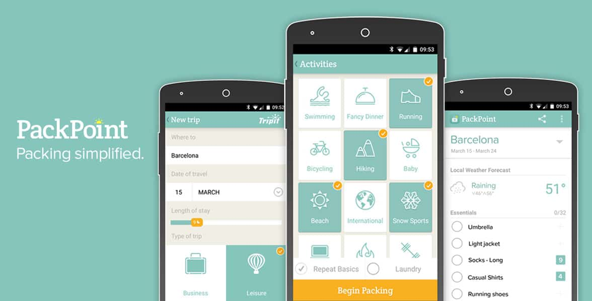PackPoint™ Simplifies Packing Lists So Couples Can Focus On Their