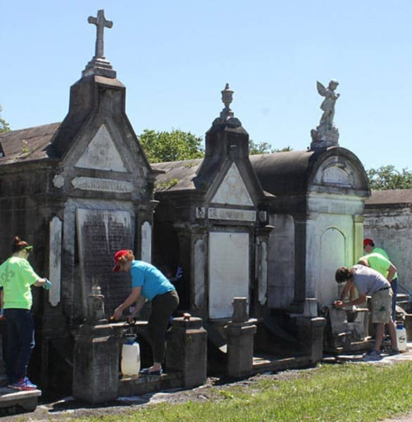 Photo of a Save Our Cemeteries restoration project