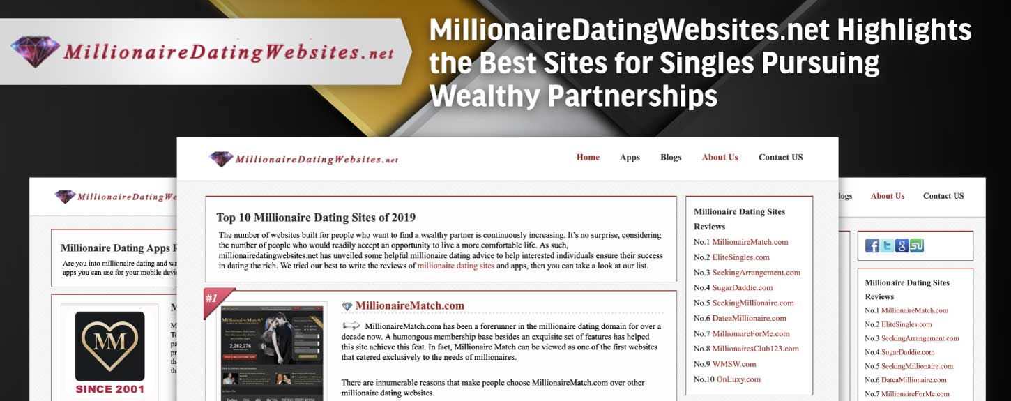 MillionaireDatingWebsites.net Highlights the Best Sites for Singles Pursuing Wealthy Partnerships
