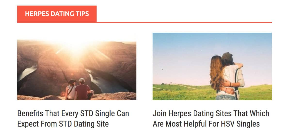Screenshot of HDatingSites.com blog