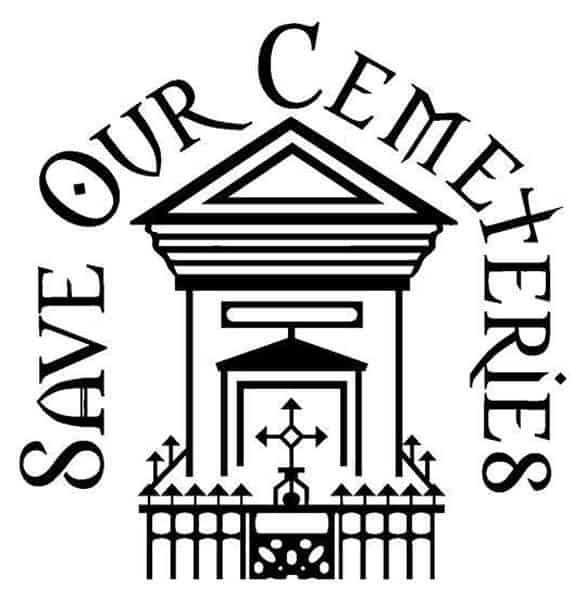 The Save Our Cemeteries logo