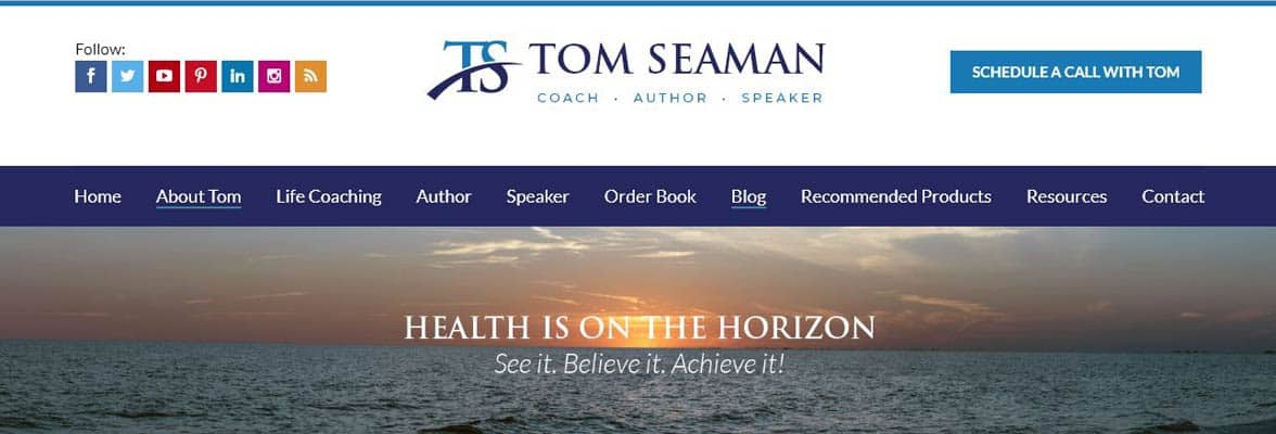 Screenshot from Tom Seaman's website