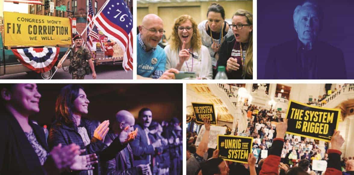 Collage of RepresentUs photos