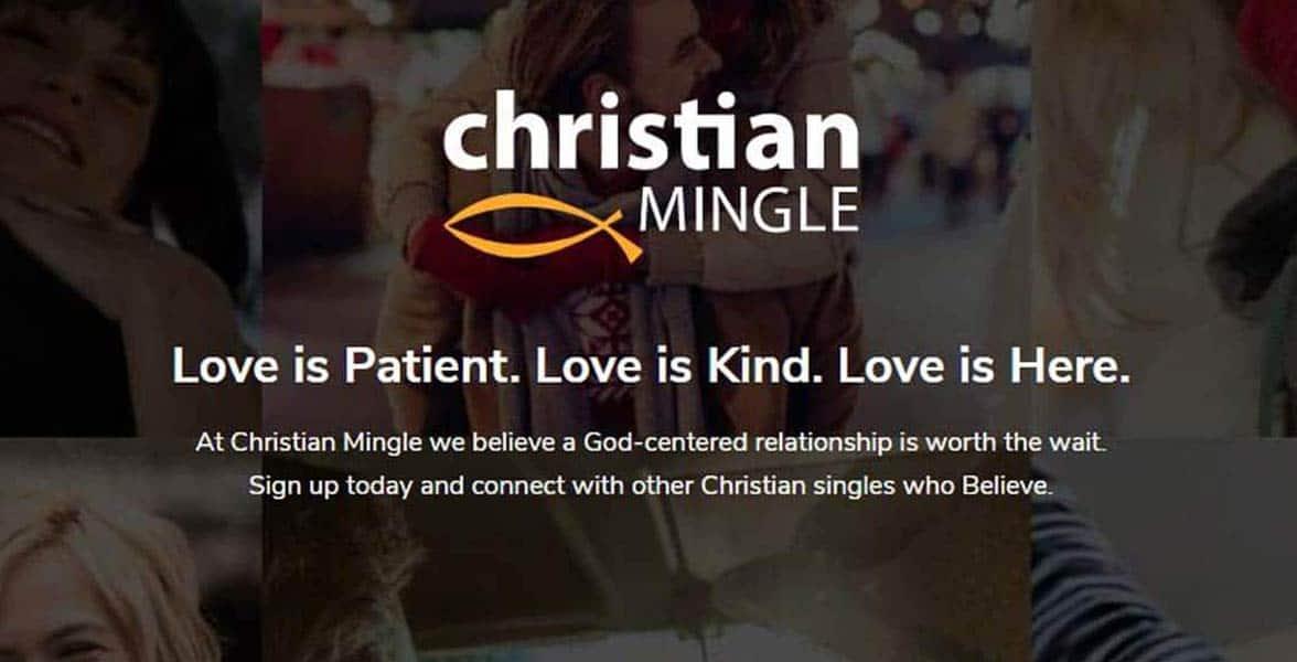 Screenshot of ChristianMingle homepage