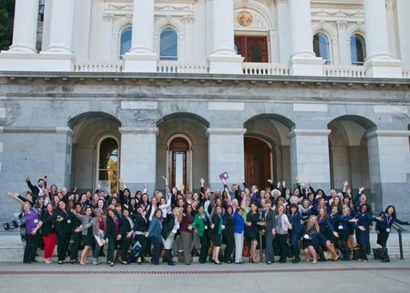 Photo of CPEDV team and legislators