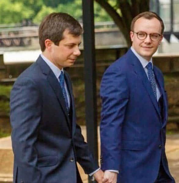 Photo of Mayor Pete Buttigieg and his husband
