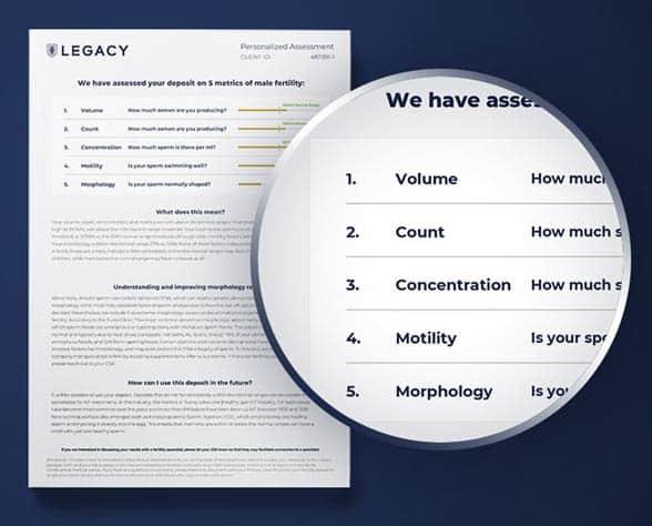 Screenshot of Legacy sample analysis
