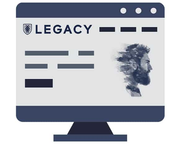 Graphic of Legacy on a computer