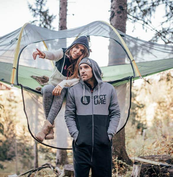 Photo of a couple in a Tentsile tree tent