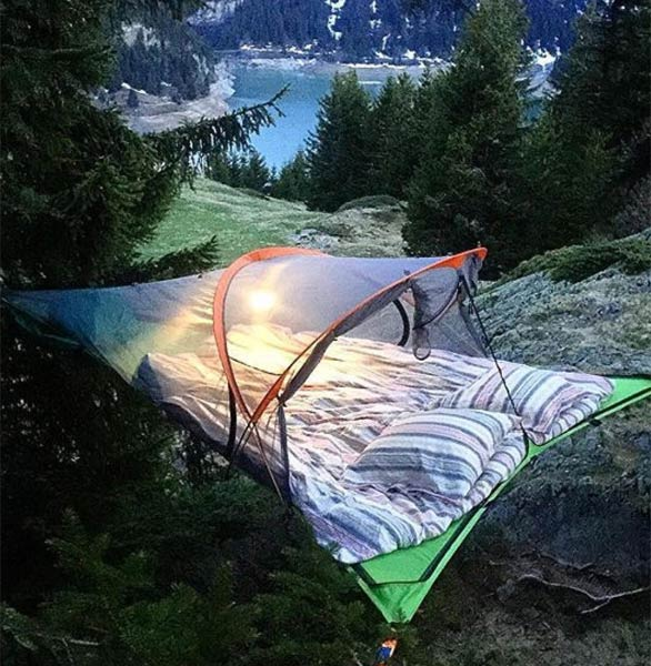Photo of a tree tent