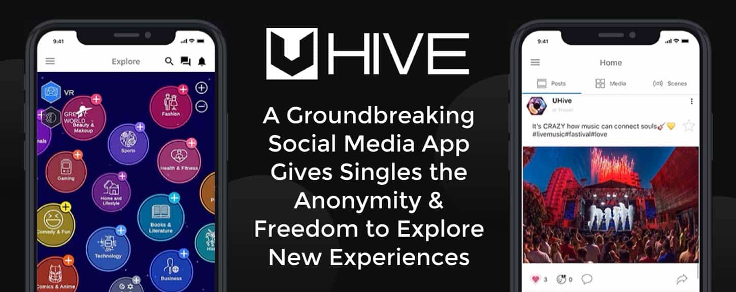 Uhive: A Groundbreaking Social Media App Gives Singles the Anonymity & Freedom to Explore New Experiences
