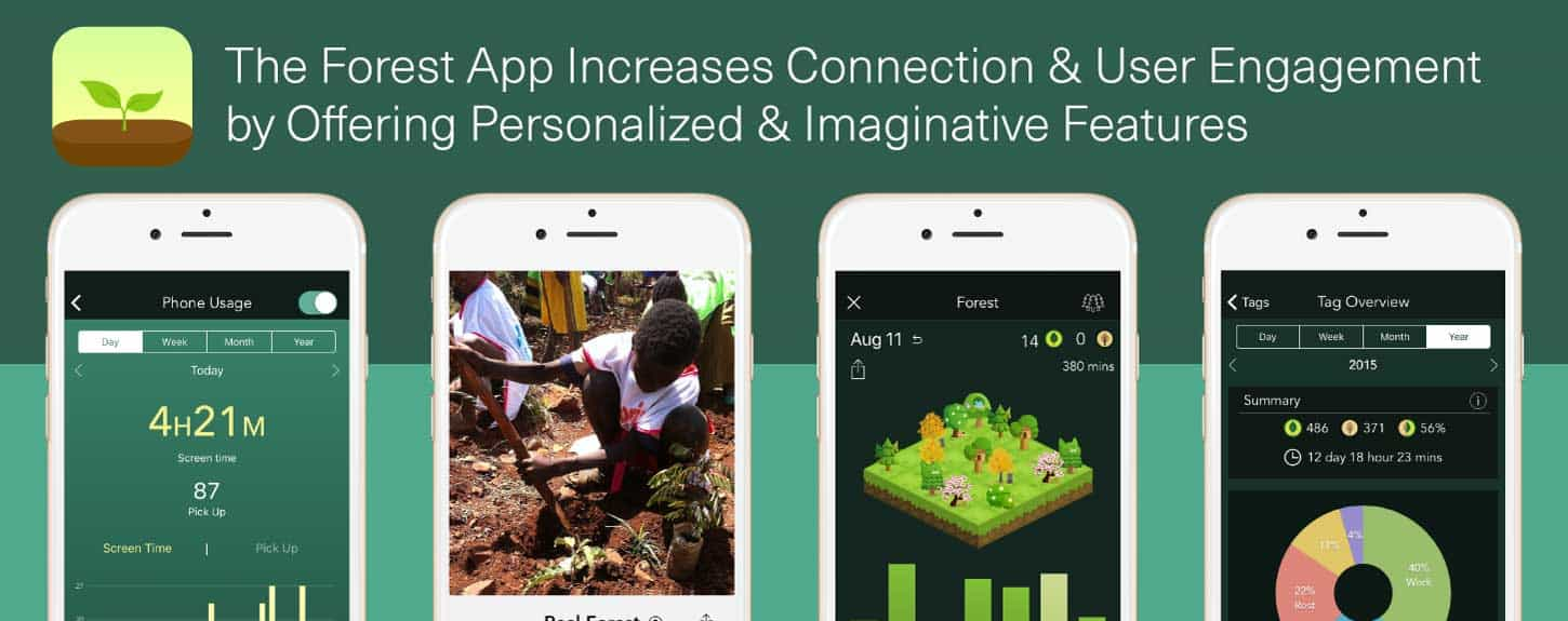 Forest App Increases Connection With Imaginative Features