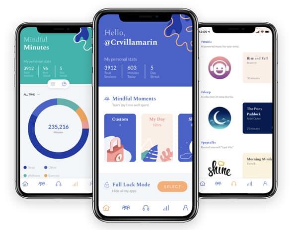 Screenshots of Flipd app