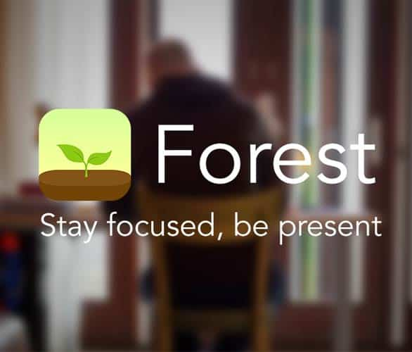 Screenshot of the Forest app